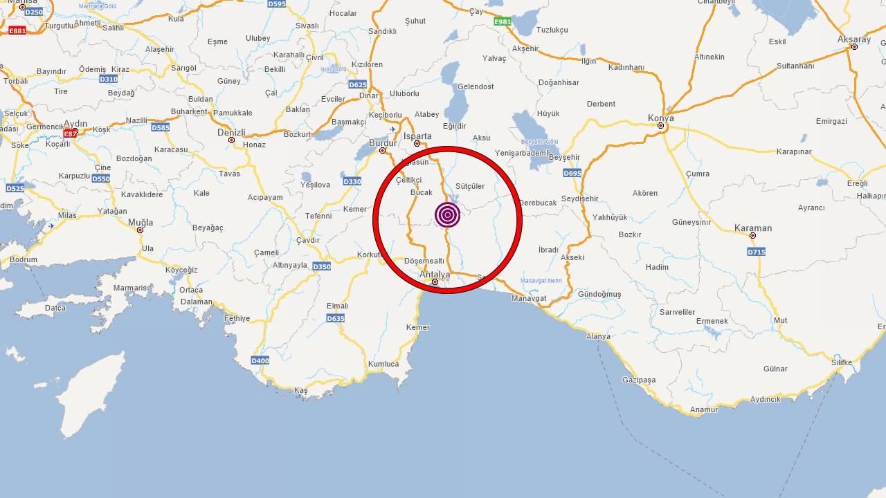 Burdur'da deprem!