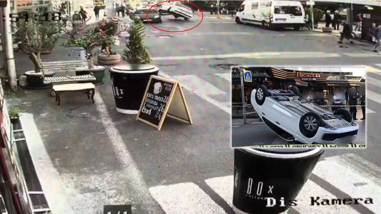 AVM'nin önünde akılalmaz kaza! Araç şaha kalktı