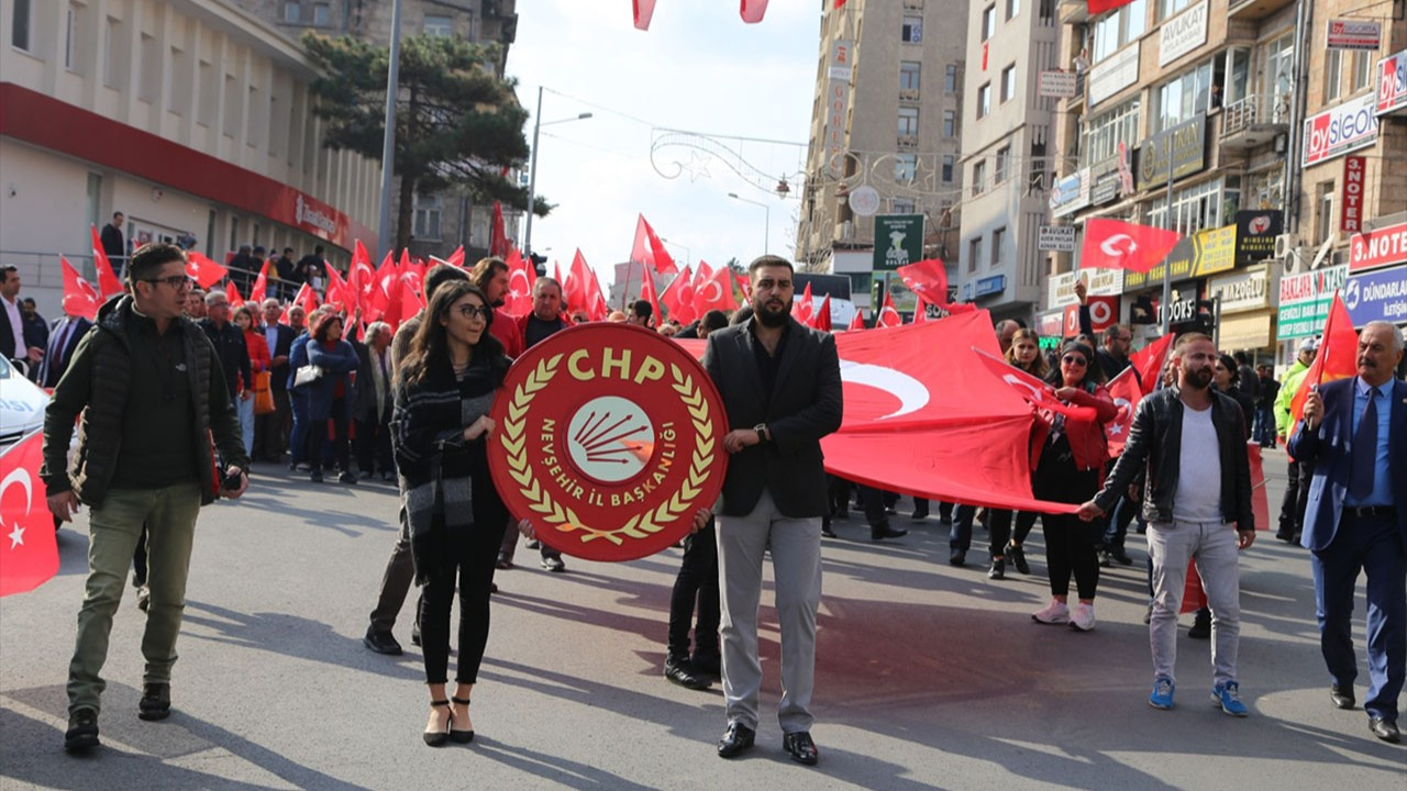 Vali davet etti, Nevşehir'de yürüyüş yapıldı