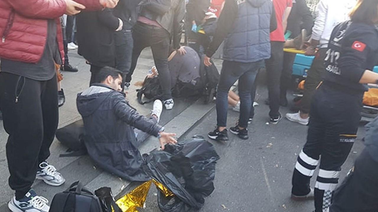 Beşiktaş'ta otobüs durağa daldı!.. Yaralılar var!