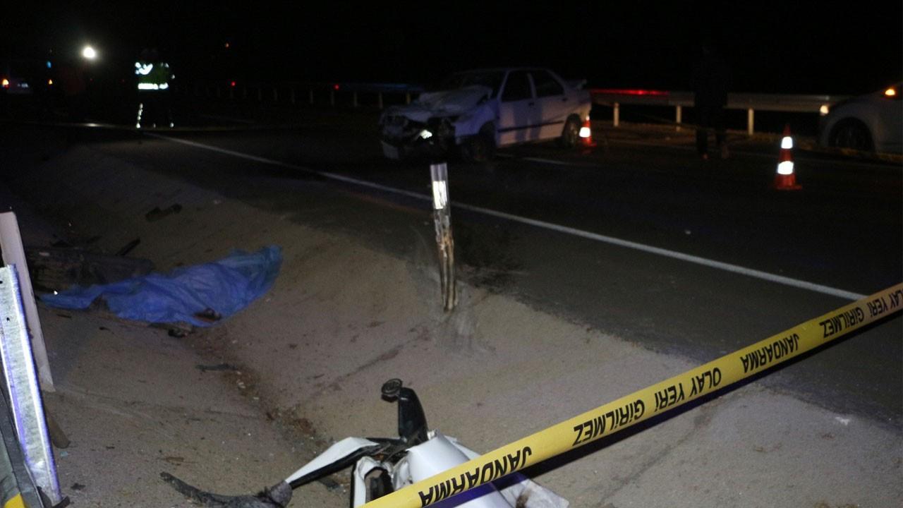 Tokat'ta feci Kaza!.. Araçtan yola fırladı!