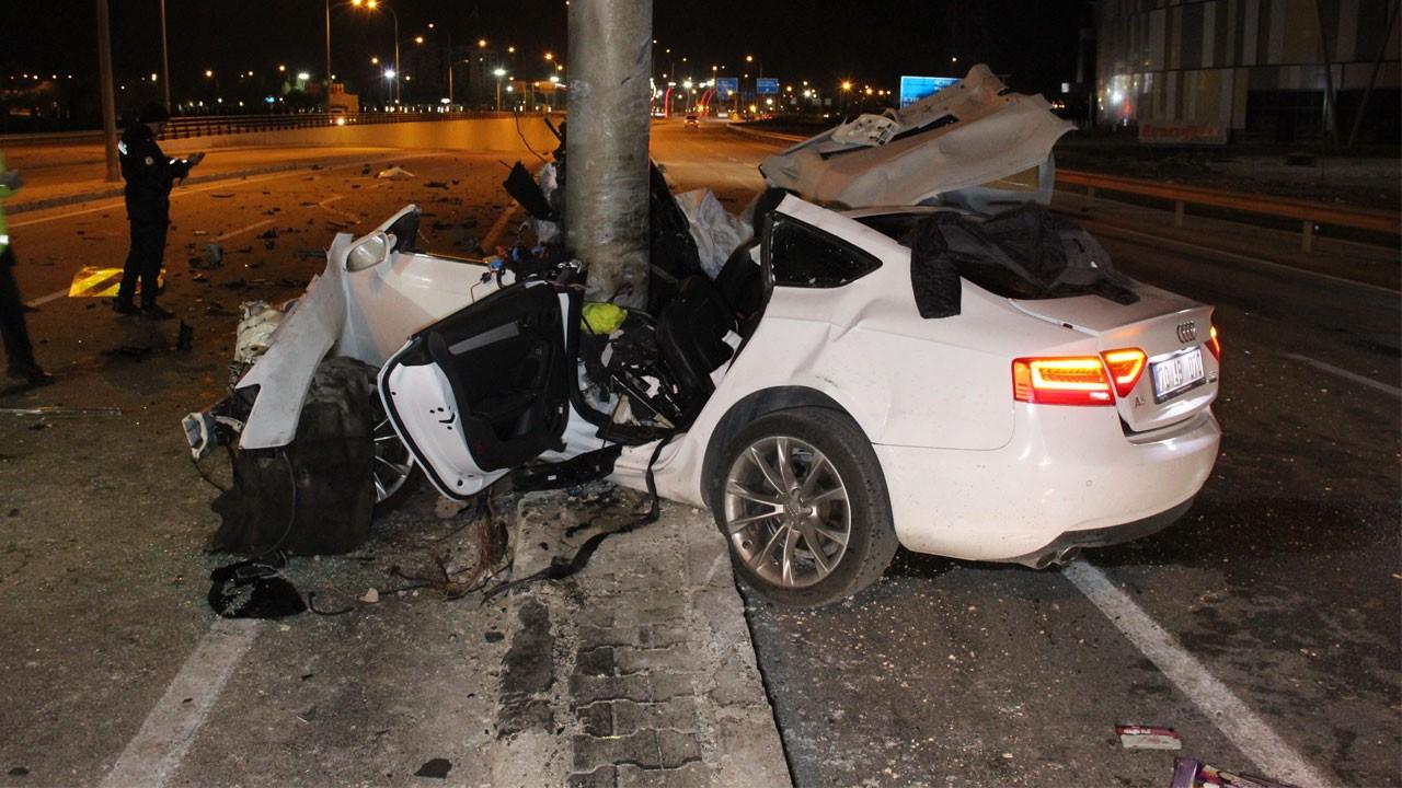 Karaman'da feci kaza!.. Bu araçtan sağ çıktı!