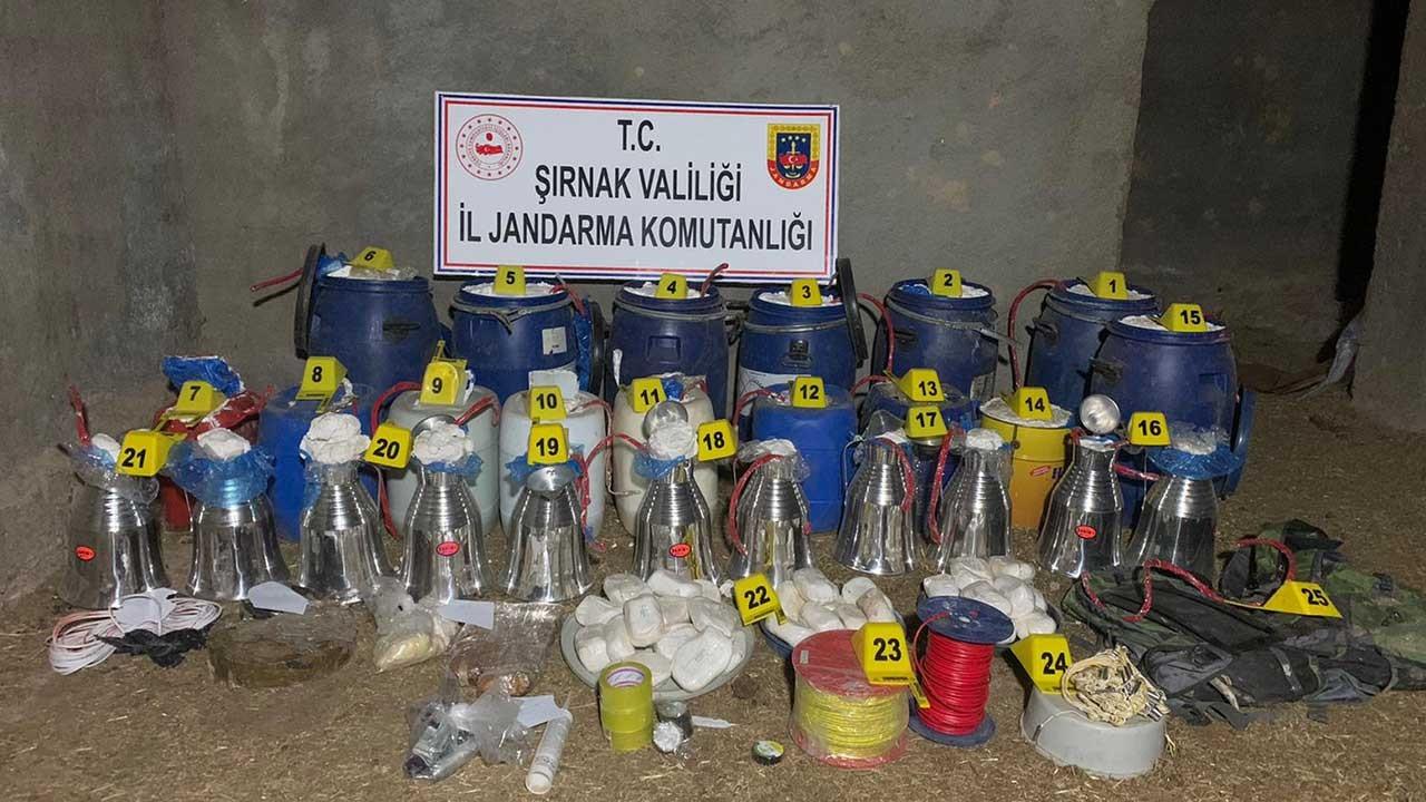 Şırnak'ta 2 ton patlayıcı ele geçirildi