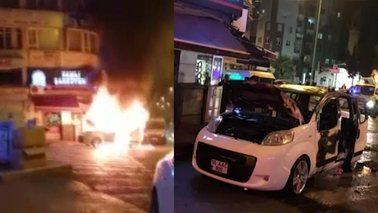 Bunalıma girip otomobilini yaktı!