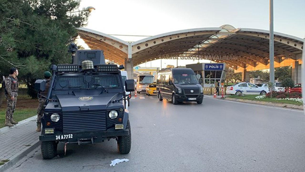 Sabiha Gökçen Havalimanı'nda silah sesleri