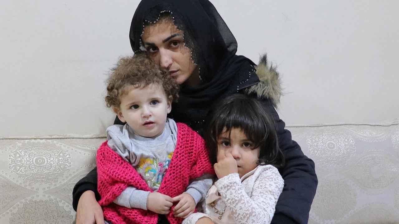 Rahibe kılığında 2 çocuğuyla Suriye'den kaçtı