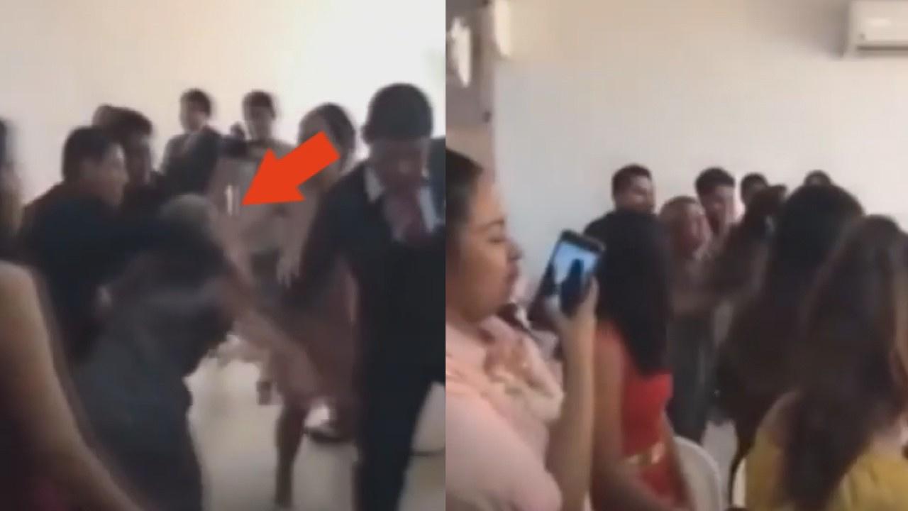 Düğünü basan kadın ortalığı birbirine kattı!