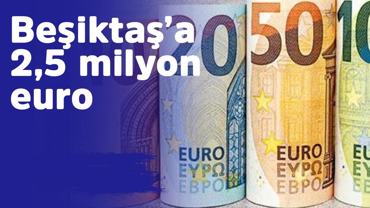 Beşiktaş'a 2,5 milyon euro