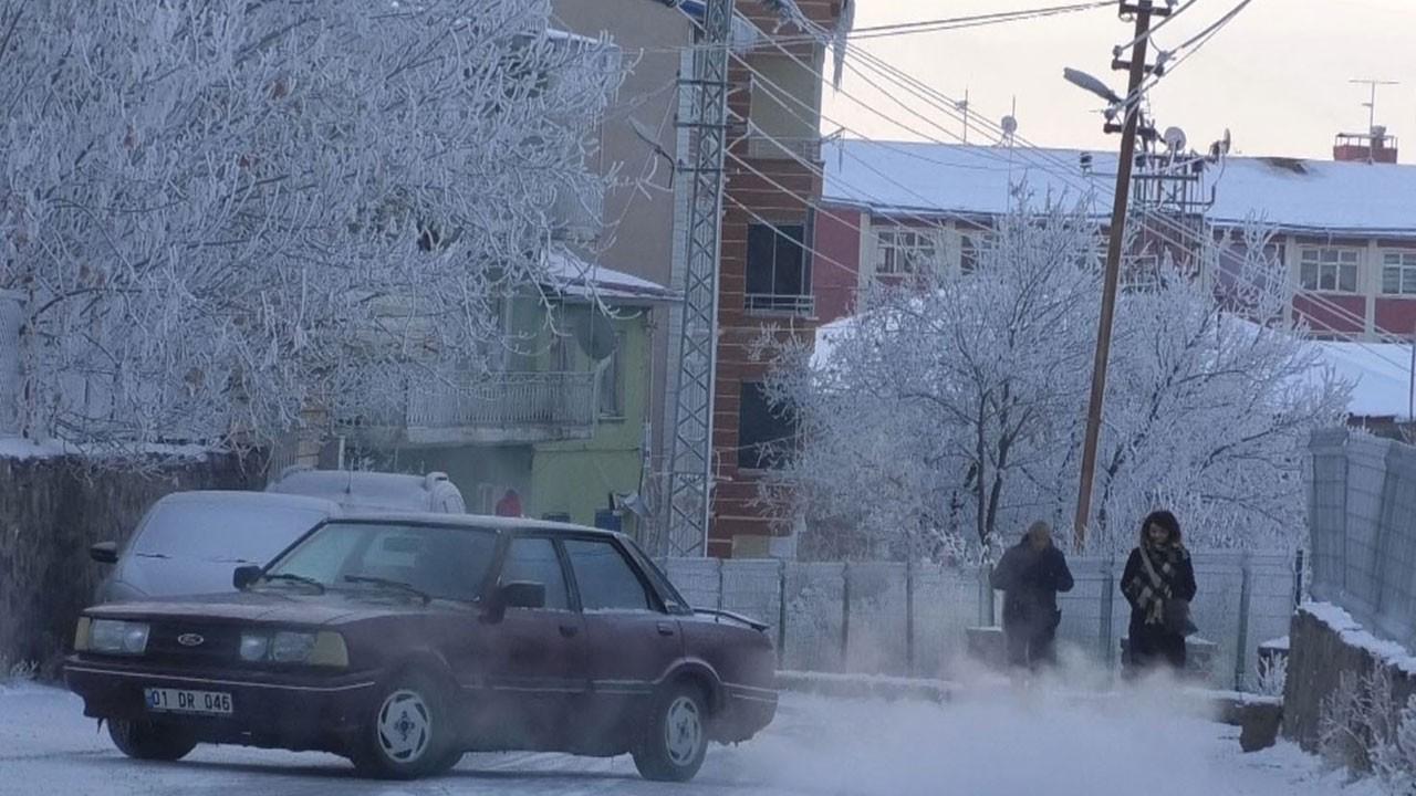 Kars'ta hava sıcaklığı eksi 16 dereceyi gördü!