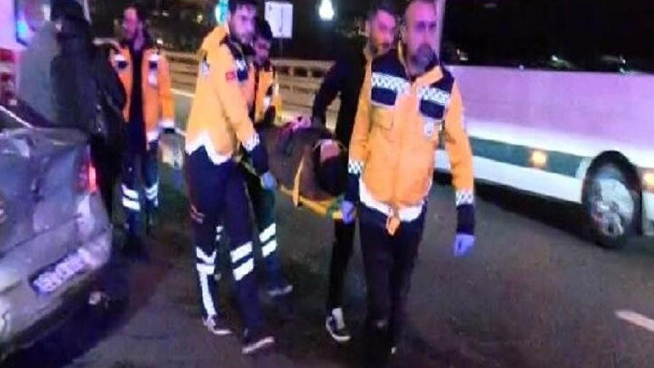 TEM'de zincirleme kaza: 6 araç birbirine girdi