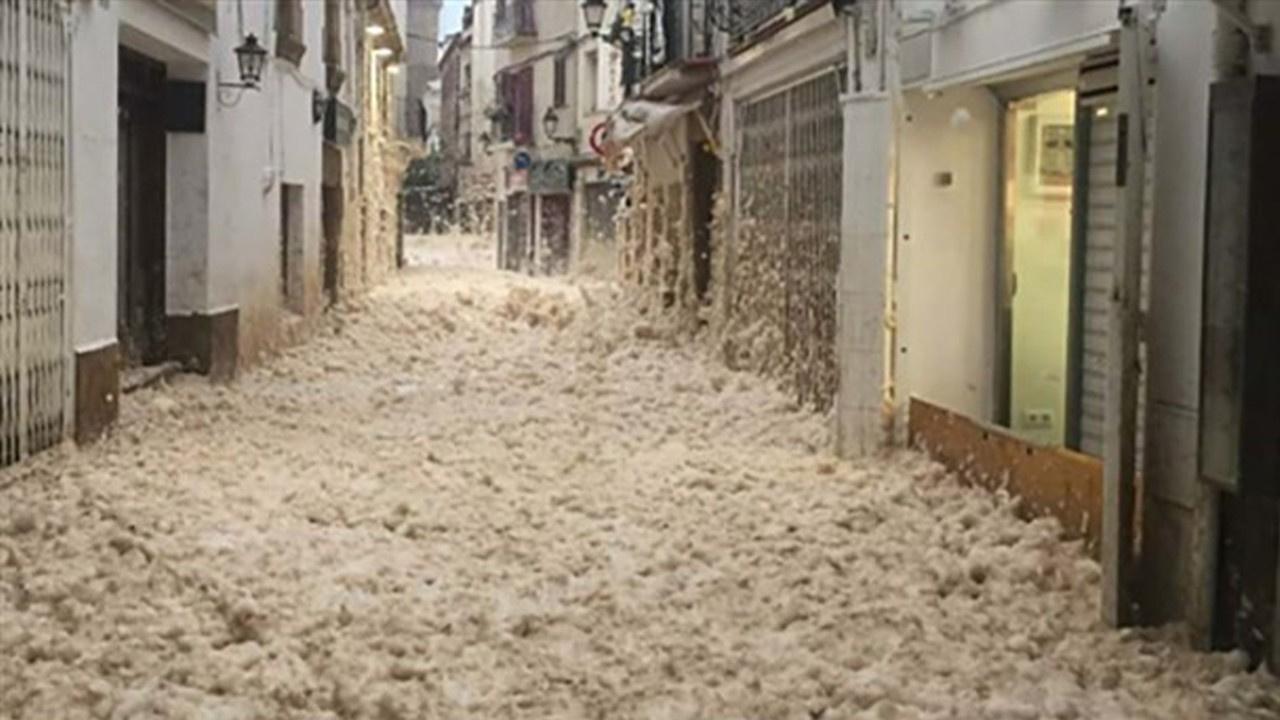 Yer: İspanya... İnanılmaz görüntüler!