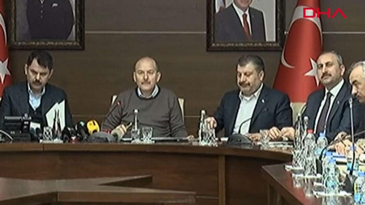 4 bakandan Elazığ'daki durumla ilgili açıklama