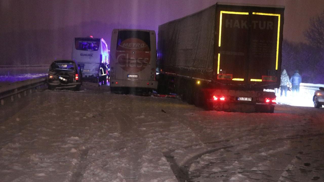 Bolu'da zincirleme trafik kazası!