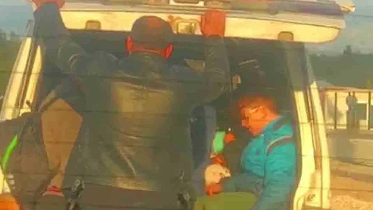 Korsan servis şoförü çocukları böyle taşıdı!