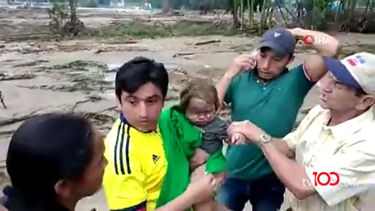 8 aylık bebek çamurun altında yeniden doğdu