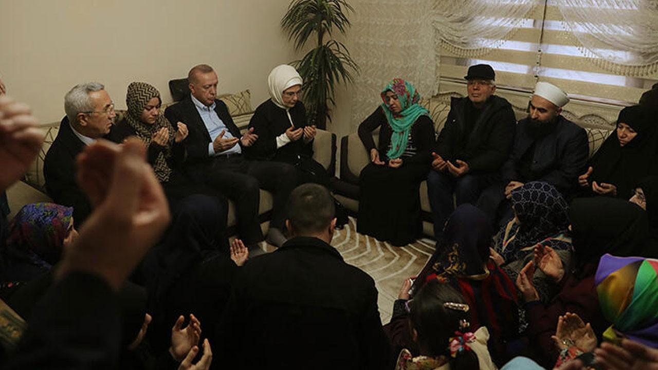 Erdoğan'dan şehidin evine taziye ziyareti