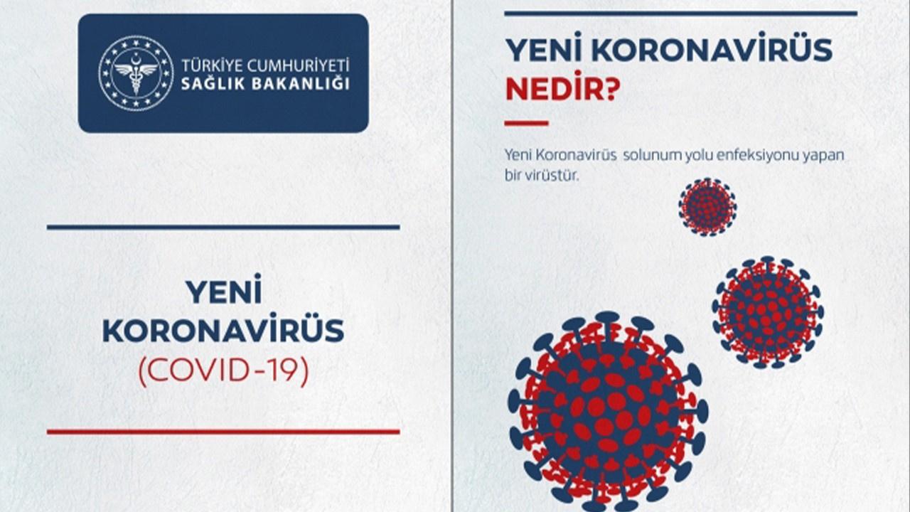 Sağlık Bakanlığı'ndan koronavirüsüne karşı broşür!