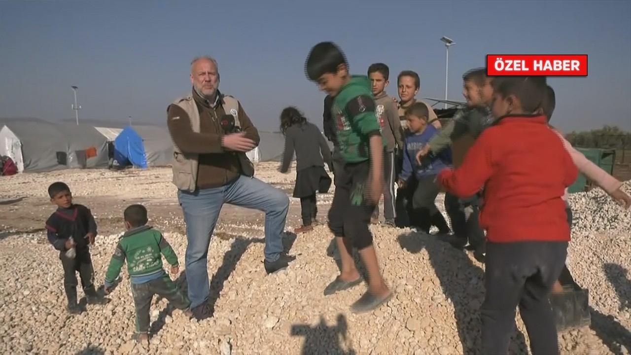 tv100 ekibi çadır kentteki çocukları görüntüledi!