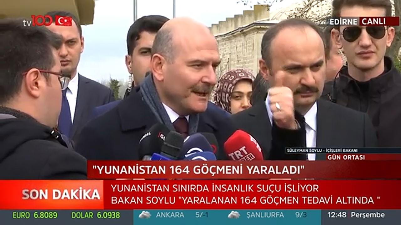 Bakan Soylu'dan gazeteciye tepki