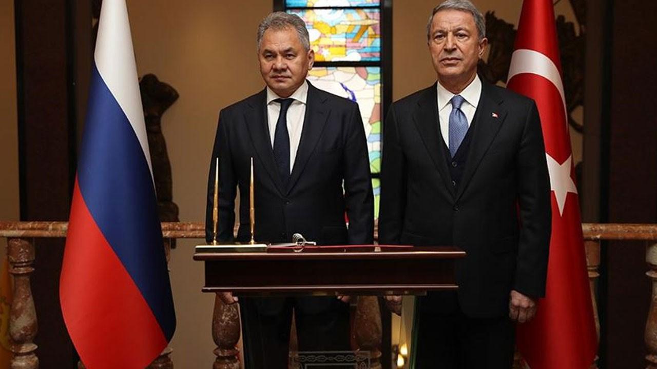 Bakanı Akar, Rus mevkidaşı ile görüştü