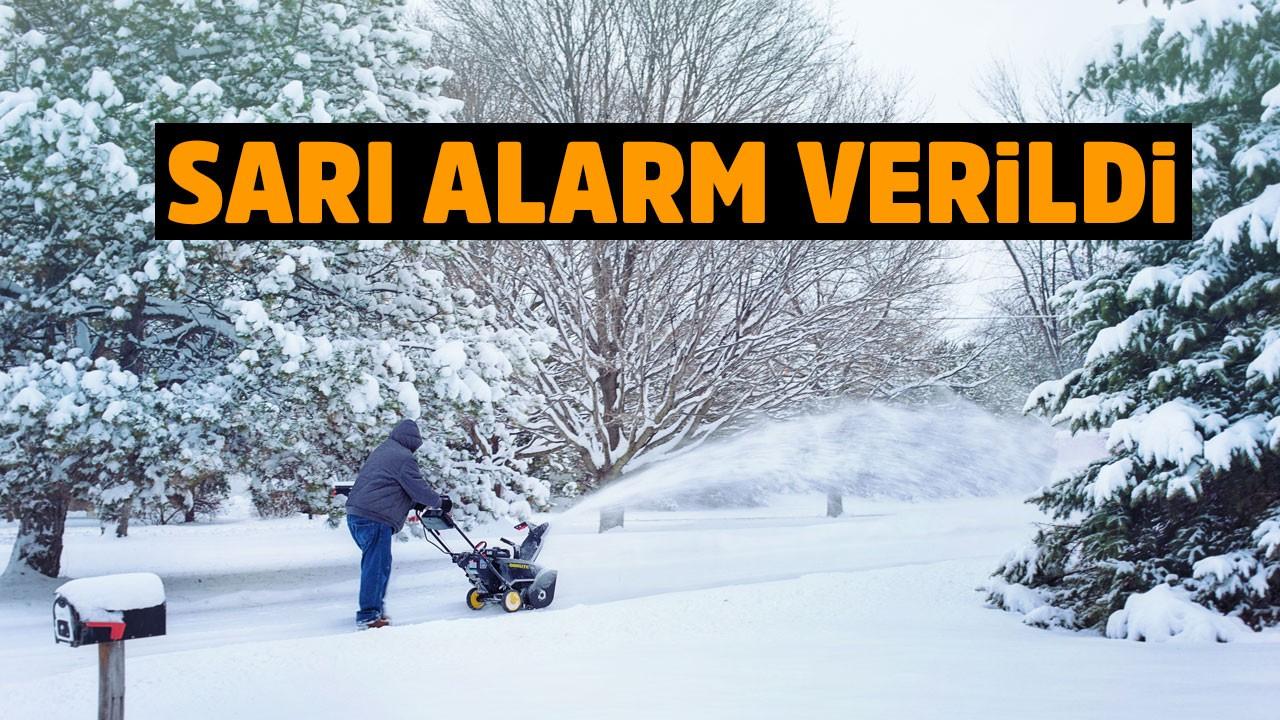 Meteorolojiden kar uyarısı ve sarı alarm!