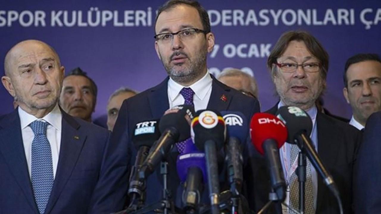 Spor Bakanı'ndan lig açıklaması