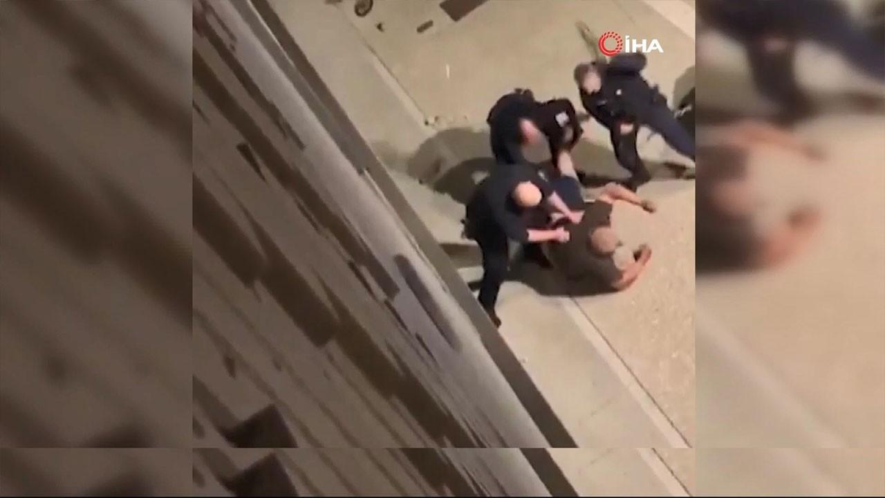 Fransız polisinin şiddeti kamerada