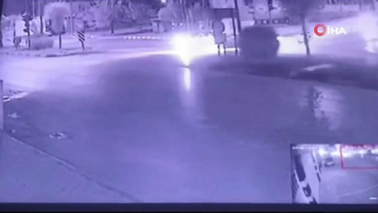 Osmaniye'de feci kaza kamerada
