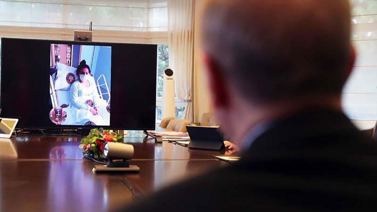 Erdoğan, tedavi gören hastalarla görüştü