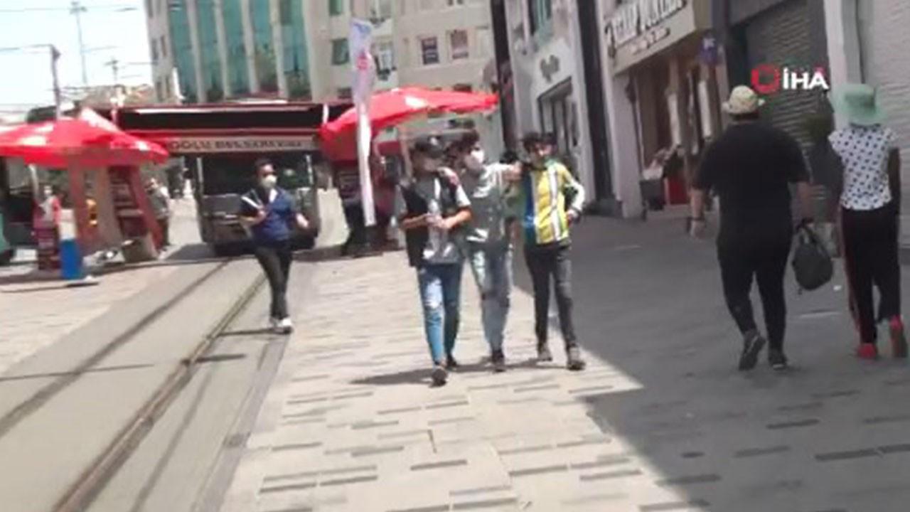 İstiklal Caddesi'nde faciadan dönüldü