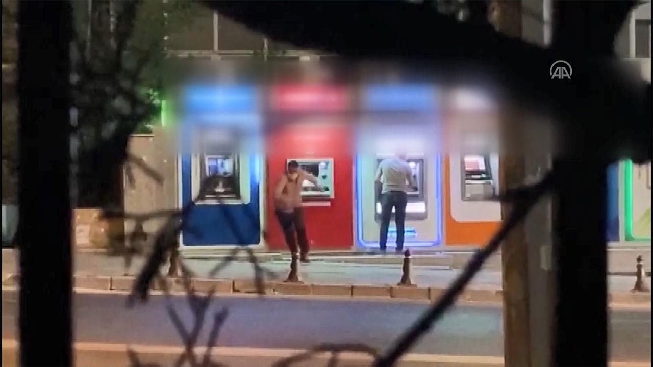 Cımbızla ATM soyarken suçüstü yakalandı