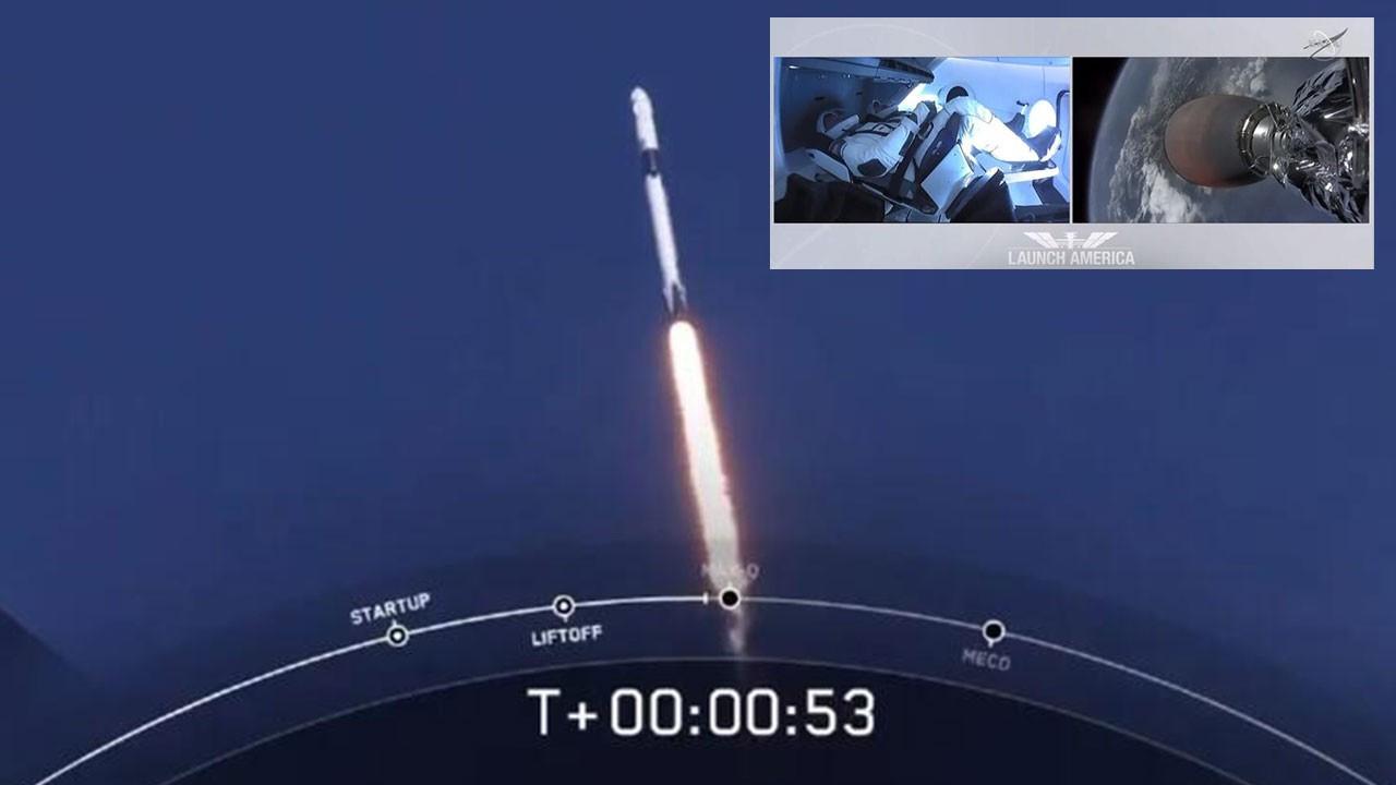 SpaceX ilk insanlı uçuşunu gerçekleştirdi