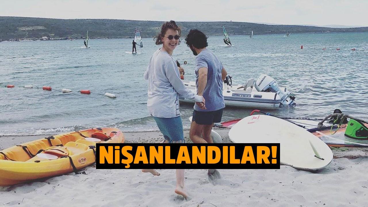 Taner Ölmez ile Ece Çeşmioğlu nişanlandı!