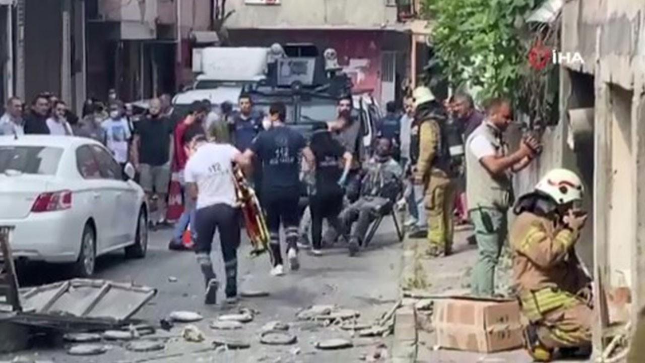 Okmeydanı'nda bir iş yerinde patlama