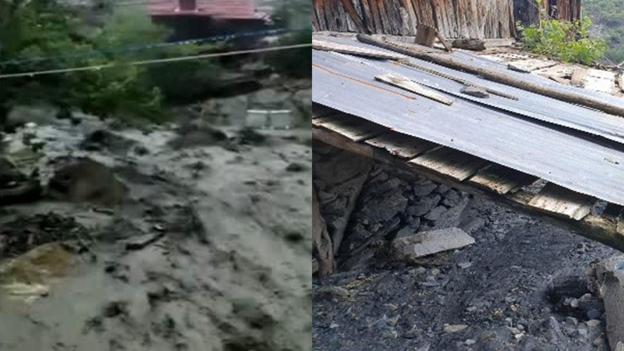 Evler sel suları altında kaldı!