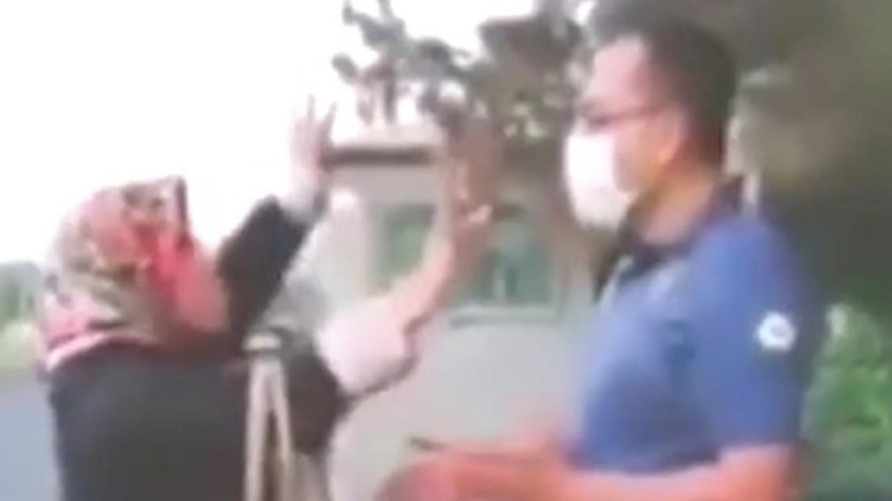 Maskesiz gezen kadın polisi çileden çıkardı!