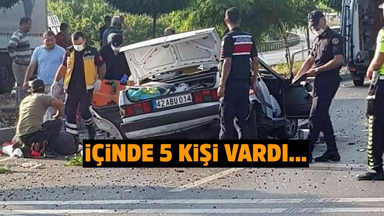Konya'da korkunç kaza!