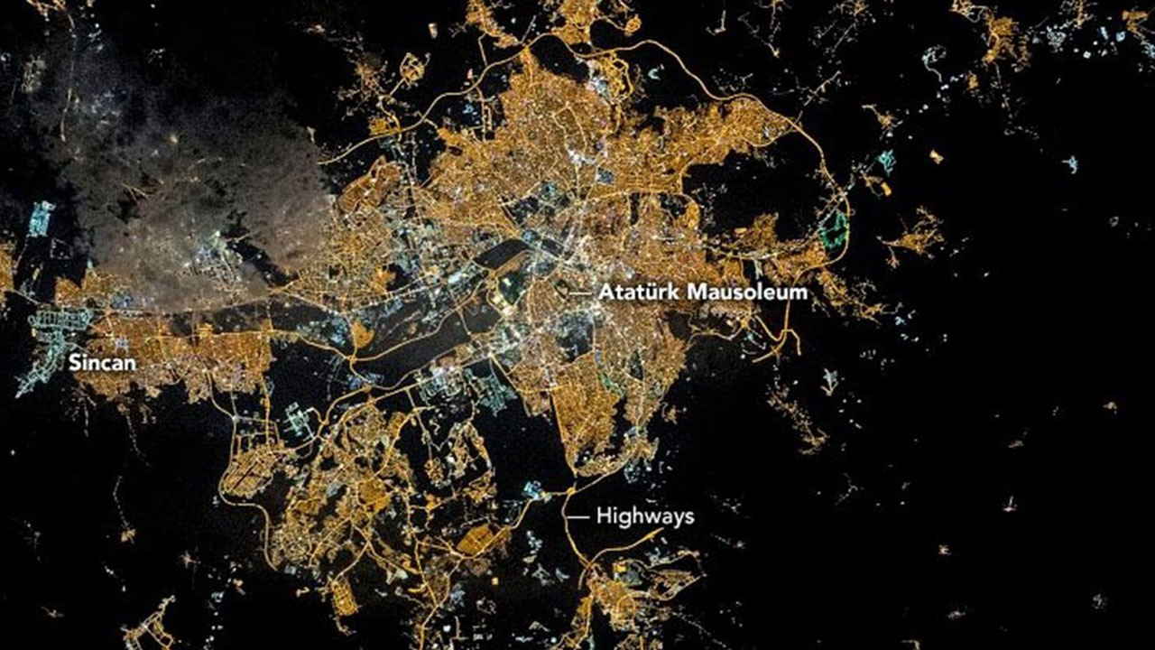 NASA paylaştı!.. Ankara'yı hiç böyle görmediniz!