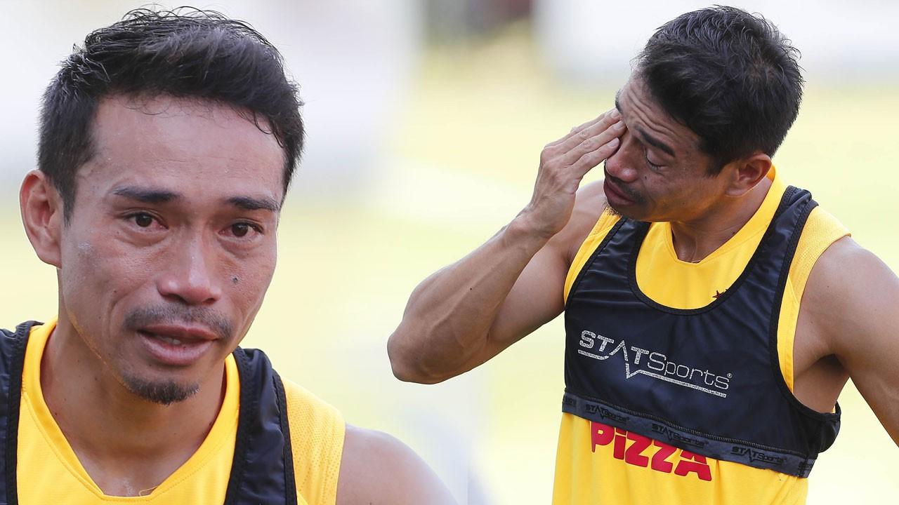 Nagatomo gözyaşlarını tutamadı