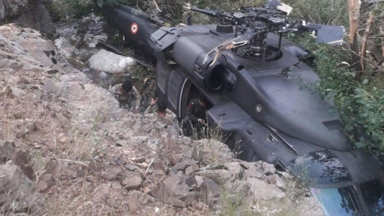 Operasyondan dönen askeri helikopter arızalandı