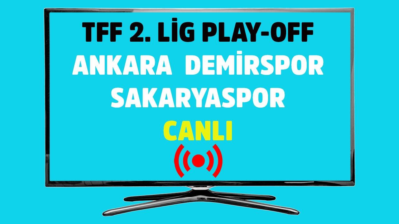 Ankara Demirspor - Sakaryaspor CANLI