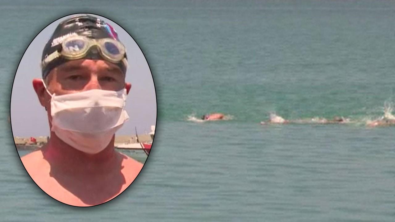 Eski bakan Mersin'den KKTC'ye yüzdü