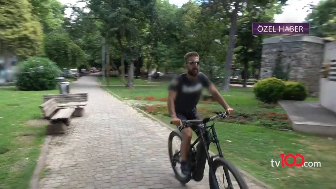 Harun Tan bisikletle stres attı