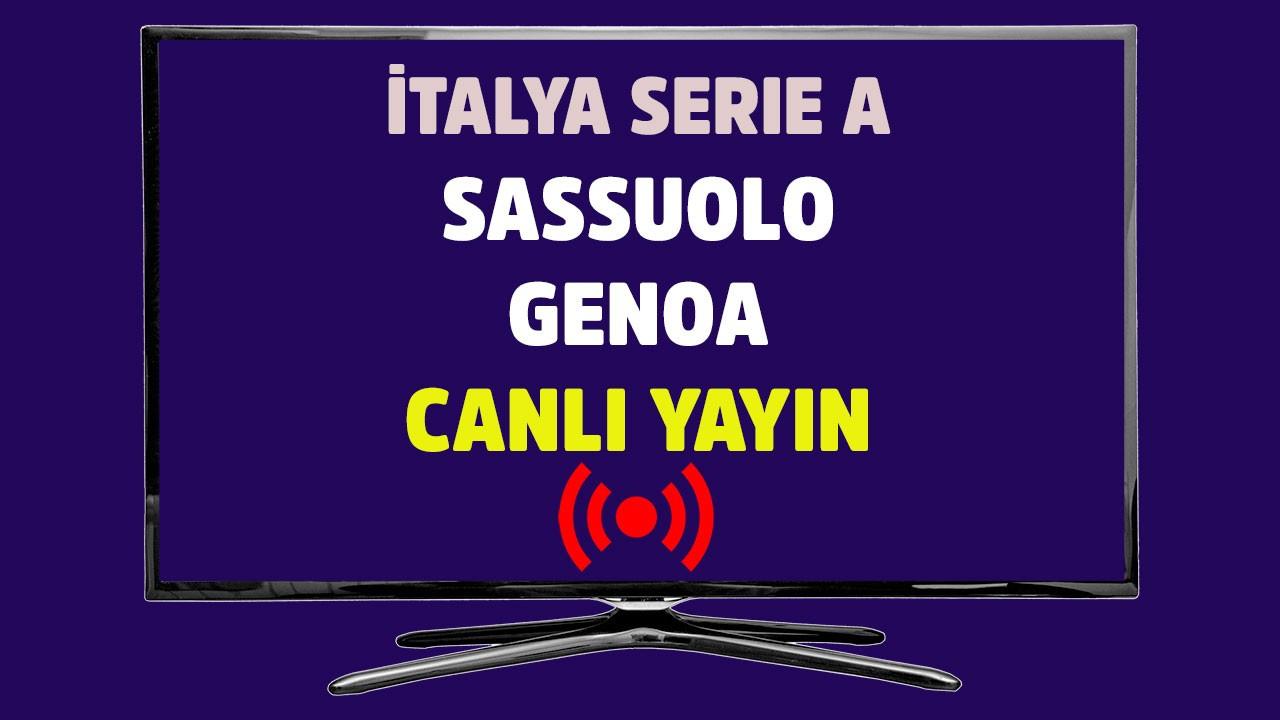 Sassuolo - Genoa CANLI