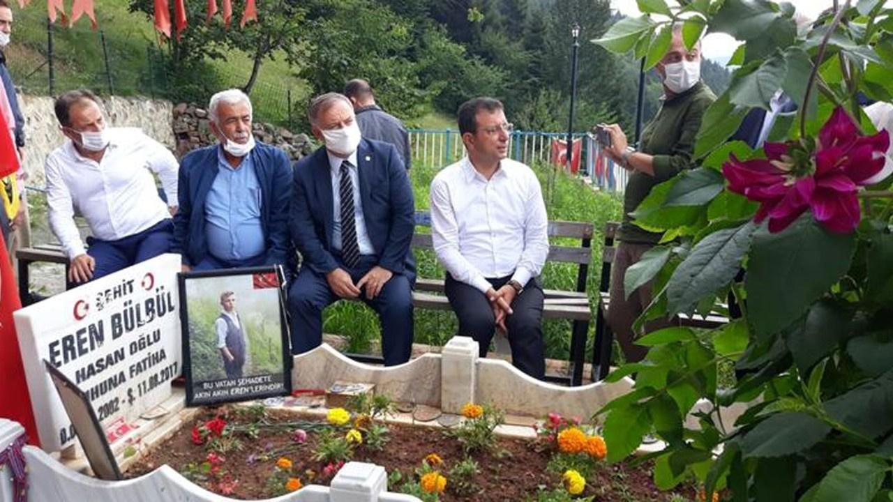 İmamoğlu'ndan Eren Bülbül'ün mezarına ziyaret