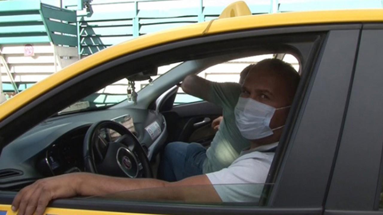 Maskesiz ticari taksiye binen yolcuya ceza