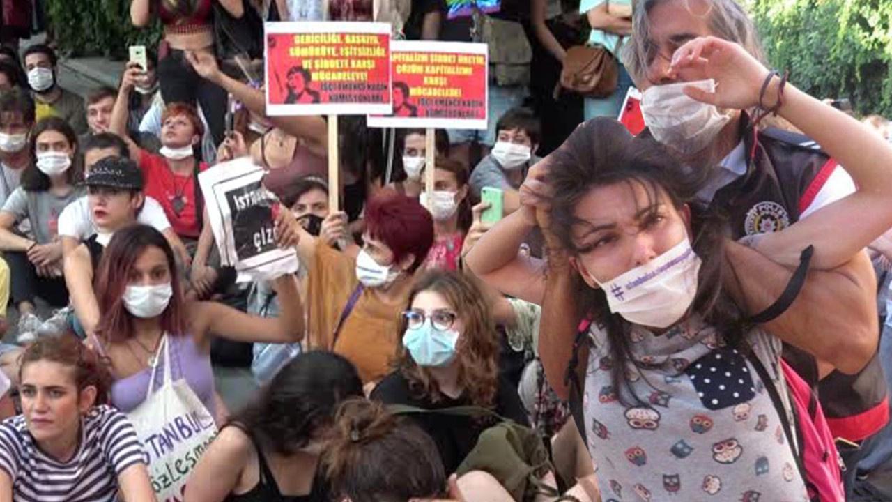 İzmir'deki eylemde 16 kadın gözaltına alındı