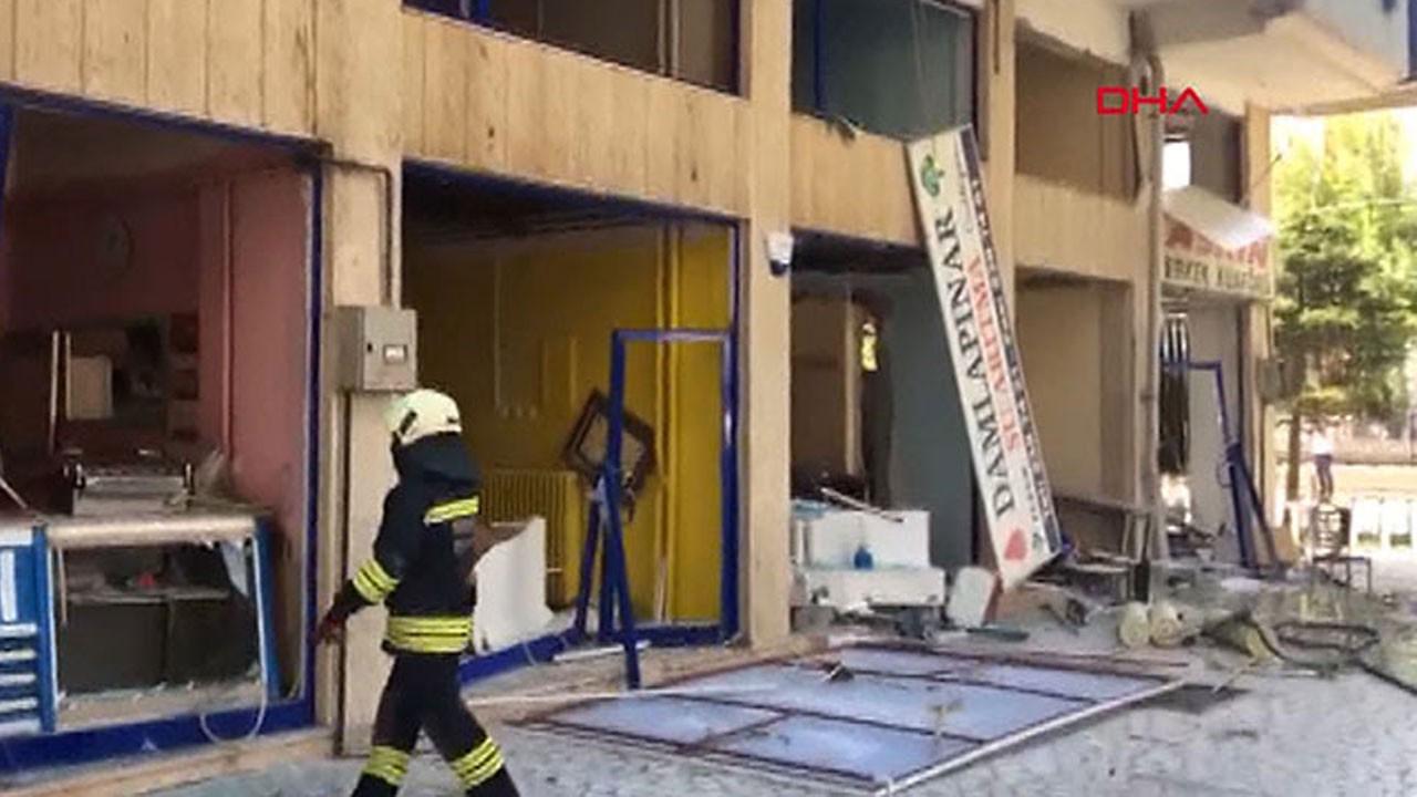 Konya'da bir iş yerinde doğal gaz patlaması!