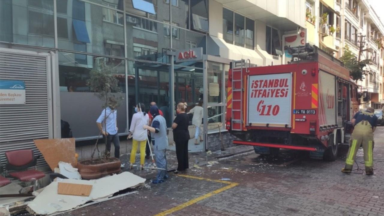 İstanbul'da hastanenin duvarı çöktü!