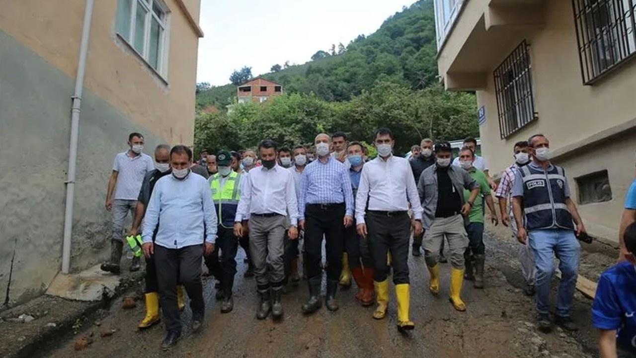 Giresun'daki felakete ilişin bakanlardan açıklama